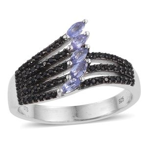 Tanzanite with Thai Black Spinel